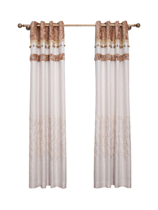 """Ulinkly, LLC - White Elegance (1 Panel Drapery with Lining, each panel 54""""W 96""""L) - Ulinkly is for affordable custom-made luxurious window curtains. We partner exclusively with top premium factories(top 1-2 sellers in international market) selling high-end custom-made curtains with top quality and hundreds high-end styles (Drapery, Voile and Valance) selection in North America."""