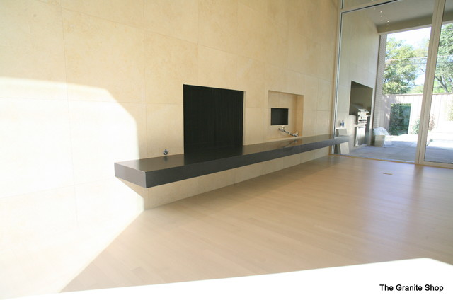 Natural Stone Fireplaces contemporary-indoor-fireplaces