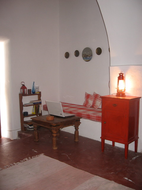 summer house in Paros Island traditional-living-room
