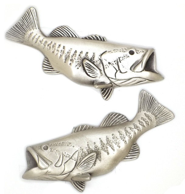 Bass Fishing Cabinet Hardware - Rustic - Door Hardware - tampa - by Sea Life Cabinet Knobs by ...