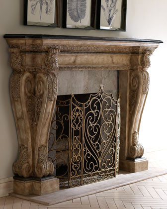 Ambella Brookstone Mantel traditional fireplace accessories