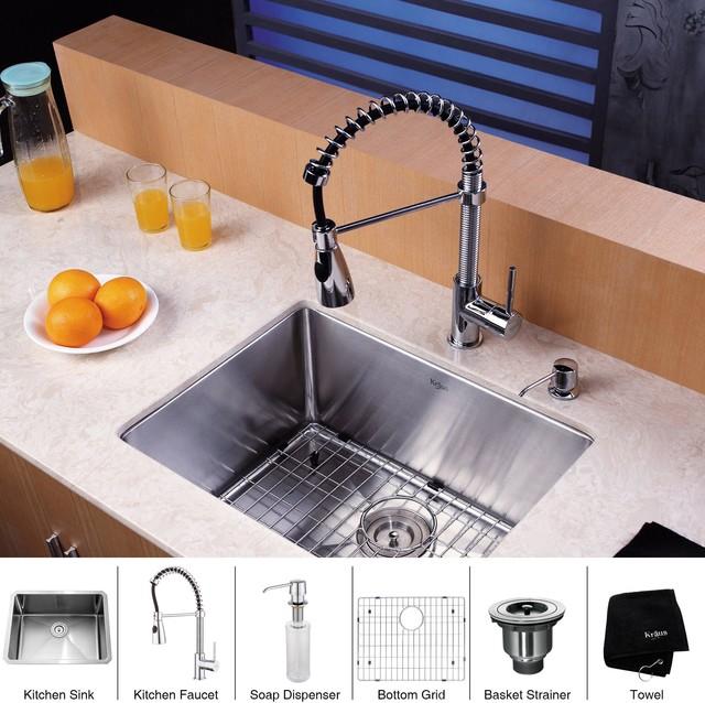 Kraus 23 Undermount Sink : All Products / Kitchen / Kitchen Sinks and Faucets / Kitchen Sinks