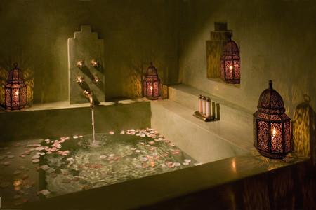 Moroccan Candle Lanterns in bathroom mediterranean-bathroom