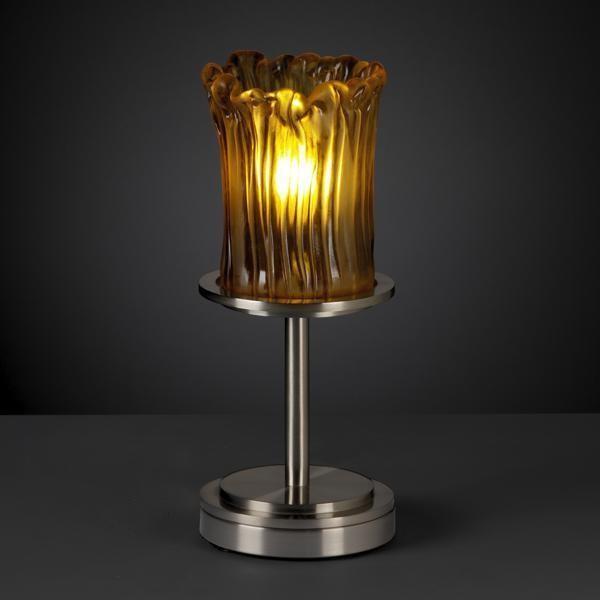 Justice Design GLA-8798-16-AMBR-NCKL Dakota 1-Light Table Lamp (Short) Veneto table-lamps