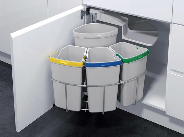 Kitchen Trash & Recycling OKO-3 - Contemporary - Trash Cans - other metro - by Signature Designs ...