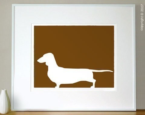 Mod Dachshund Print 8x10 by ModDogShop on Etsy eclectic-artwork