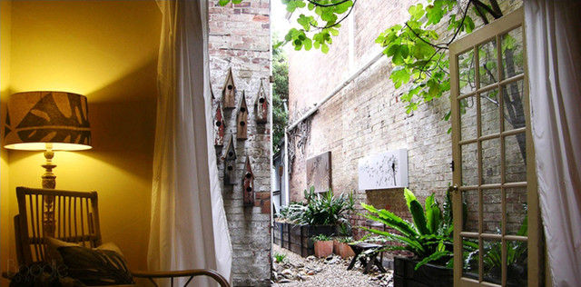 St Kilda courtyard terrace styling by Boodle Cooncepts eclectic-exterior