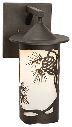 Wall Sconces Location : Wet Sconce - PASADENA - PINECONE - Wet Location - Rustic - Outdoor Wall Lights And Sconces - by ...
