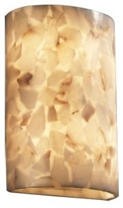 Alabaster Rocks! Large Cylinder Wall Sconce by Justice Design Group contemporary-wall-lighting