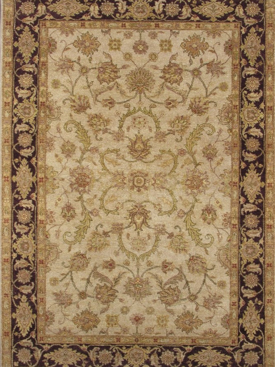 Rugsville Vegetable dyes Royal Mahal Wool Rug 10338 - Rugsville Vegetable dyes Royal Mahal Wool Rug 10338 is available for purchase in increments of 1