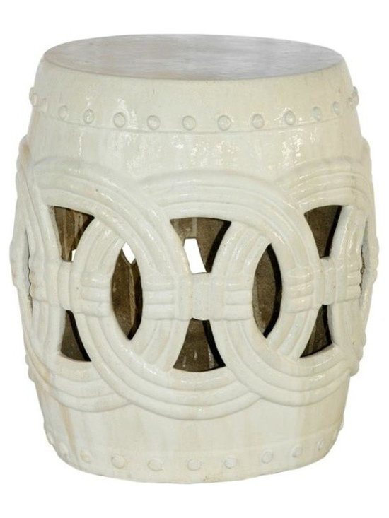 Belle & June - Vanilla Small Rope Garden Stool - Inspirational touches can make an everyday room cultured and sophisticated. This Asian-influence garden stool can hold books, flowers or serve as a pedestal for an objet d'art. Top it with an oriental design pillow for impromptu seating.