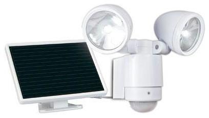 White Dual Head Spotlight contemporary-outdoor-lighting