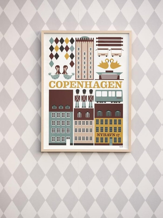 Ferm Living Copenhagen Poster - Celebrate the city of Copenhagen with the Copenhagen Poster's by Ferm Living. They come in small and large size, just right for that perfect spot!
