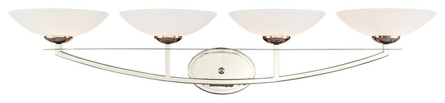 Possini White Bowl 4-Light Bath Fixture contemporary-bathroom-vanity-lighting