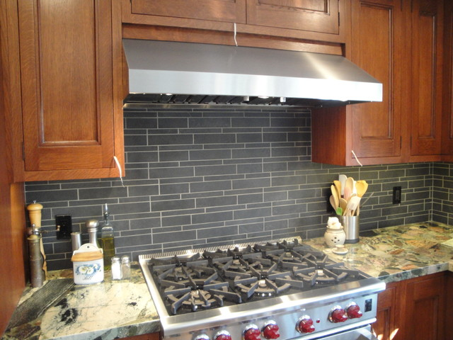 Arts and crafts remodel in huntington beach craftsman for Craftsman style kitchen backsplash