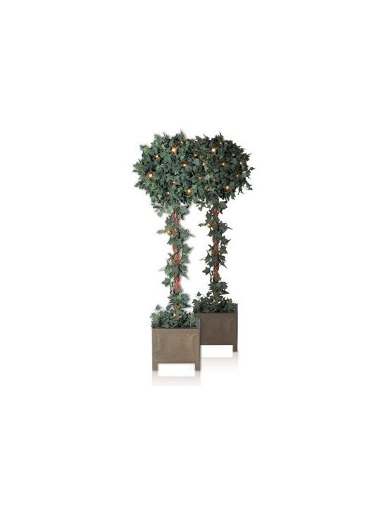 Balsam Hill Ivy Globe Topiary Artificial Christmas Tree - OLD WORLD ELEGANCE WITH BALSAM HILL'S IVY GLOBE TOPIARY TREE |