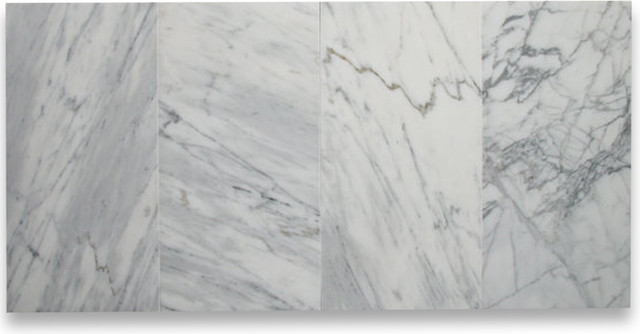 Carrara White 9 X 18 Subway Tile Polished Marble From Italy Wall And Floo
