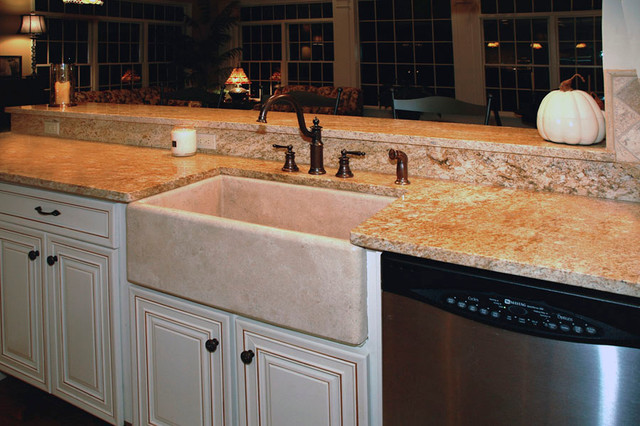 Stone sink traditional-kitchen