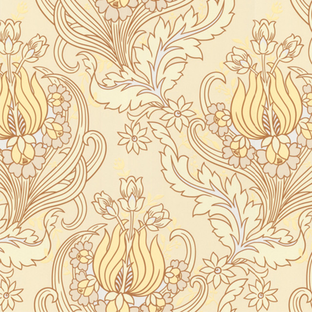 Amy Butler Wallpaper - Temple Tulips - Field contemporary-wallpaper