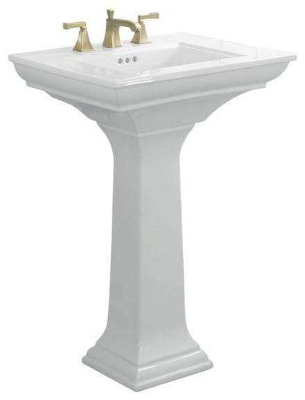 KOHLER K-2344-1-0 Memoirs Pedestal Lavatory with Stately Design and ...