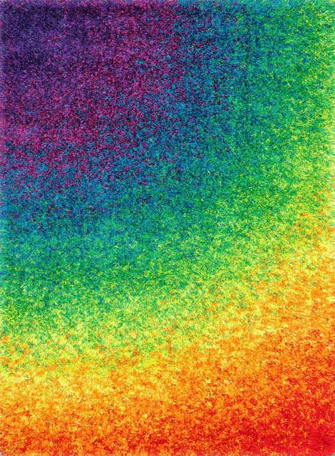 """Loloi Barcelona Shag BS-01 5'2"""" x 7'7"""" Rainbow Rug contemporary-rugs"""