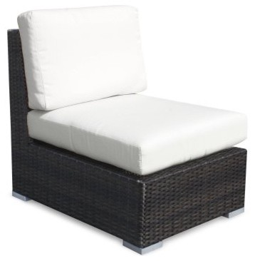 Source Outdoor Lucaya All-Weather Wicker Armless Sectional Chair modern-patio-furniture-and-outdoor-furniture
