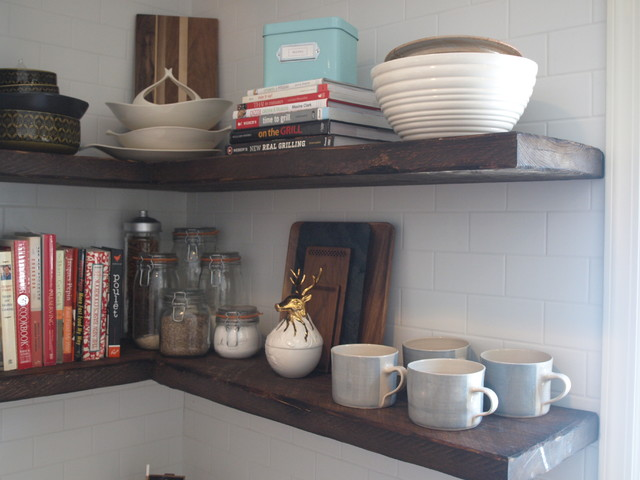 Floating Shelves From Reclaimed Wood Farmhouse New