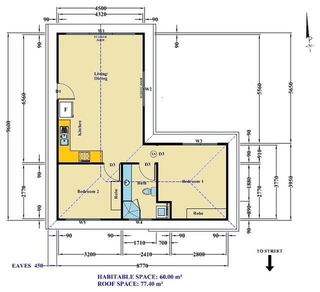 Granny flat warriewood modern floor plan sydney by granny