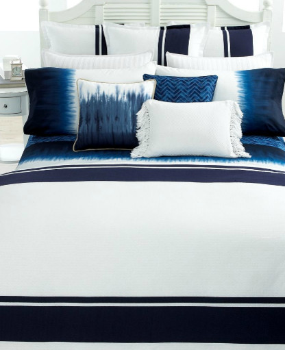 Indigo Modern Stripe Lauren by Ralph Lauren Bedding eclectic bedding