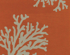 Jaipur Grant Design Indoor-Outdoor Area Rug, Bough Out Orange/Gray tropical-outdoor-rugs