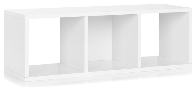 Way Basics 3 Cubby Stackable Organizer, White modern-storage-units-and-cabinets