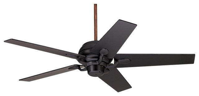 52 Casa Optima Matte Black Motor And Blades Ceiling Fan