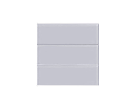 "Ocean Gray 4"" x 12"" Large Glass Subway Tile - This Large Ocean Glass Subway Tile is made from the strongest stain-resistant crystal clear glass. These tiles have a 8mm thickness that increases their durability and the depth of their color making them truly beautiful subway tiles. These subway tiles can be used for commercial or residential construction in either a wet or dry environment."