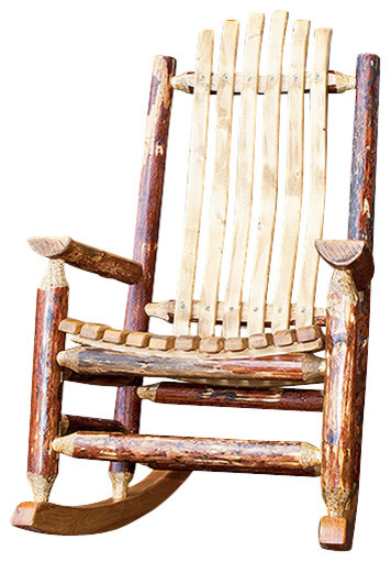 Montana Woodworks Adult Log Rocking Chair in Glacier