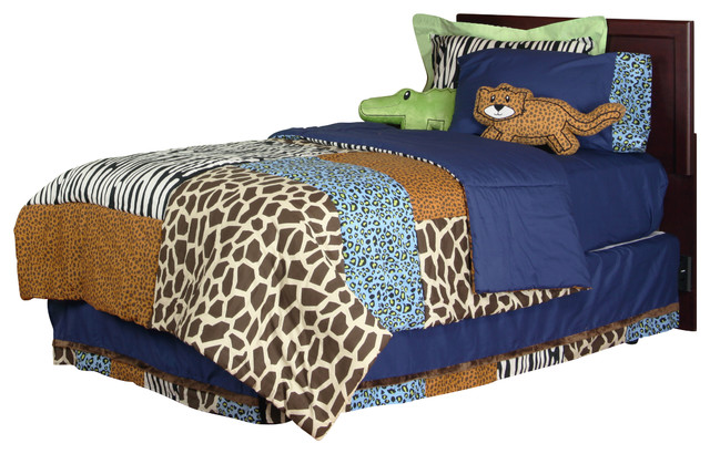 Jazzie Jungle Boy - Full Set (8pc) contemporary-kids-beds