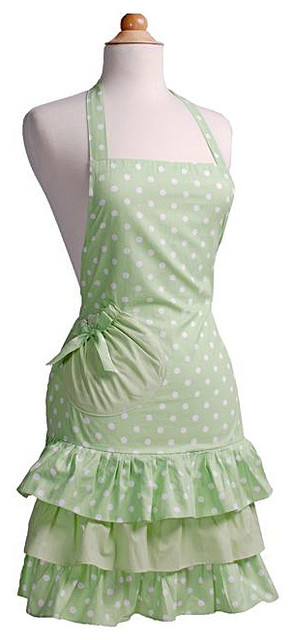 Mint-a-licious Women's Marilyn Flirty Apron contemporary-aprons