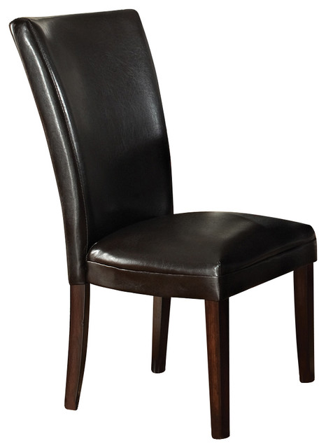 Steve Silver Hartford Bonded Parson Chair in Brown Set of  :  dining chairs from www.houzz.com size 466 x 640 jpeg 36kB