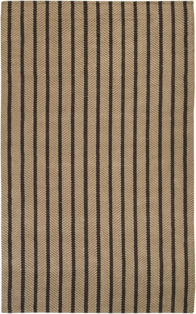 """Natural Fiber Country Jutes 8'x10'6"""" Rectangle Chocolate-Natural Area Rug contemporary-area-rugs"""