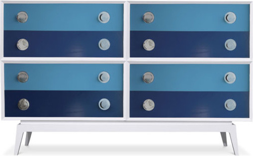 White Claude Special Edition 8 Drawer Set modern-dressers-chests-and-bedroom-armoires