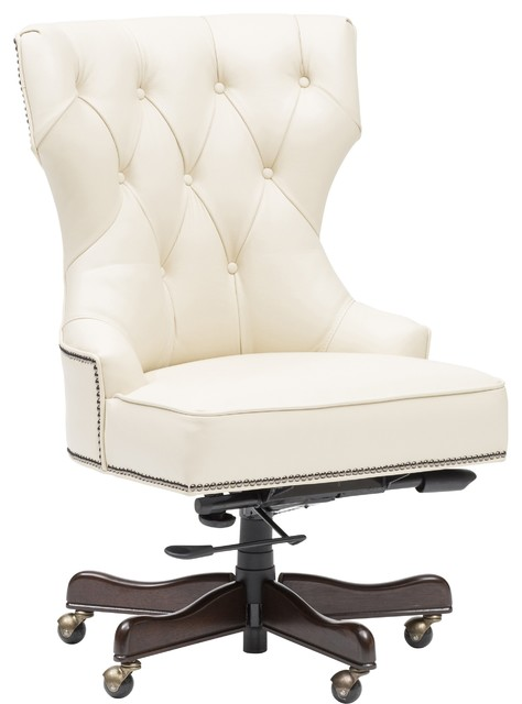 Executive Tufted Leather Chair Office Chairs By High Fashion Home