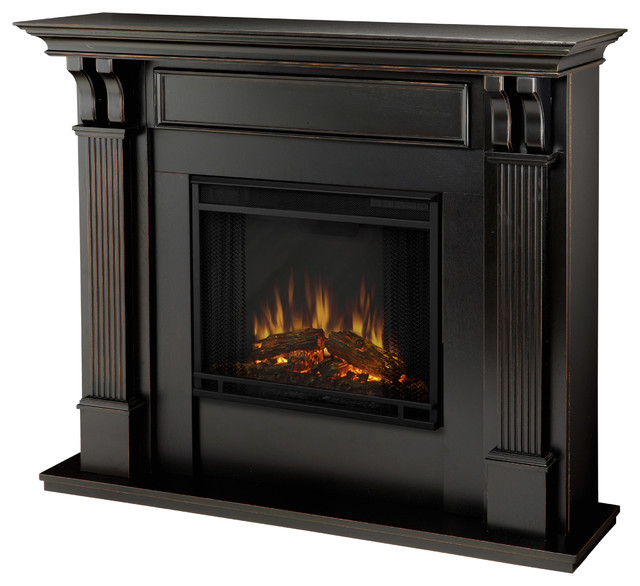 Ashley Blackwash Electric Fireplace By Real Flame Contemporary Fireplaces By