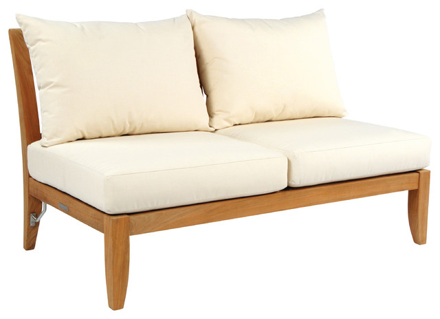 Ipanema Sectional Armless Settee - By Kingsley Bate modern-outdoor-sofas