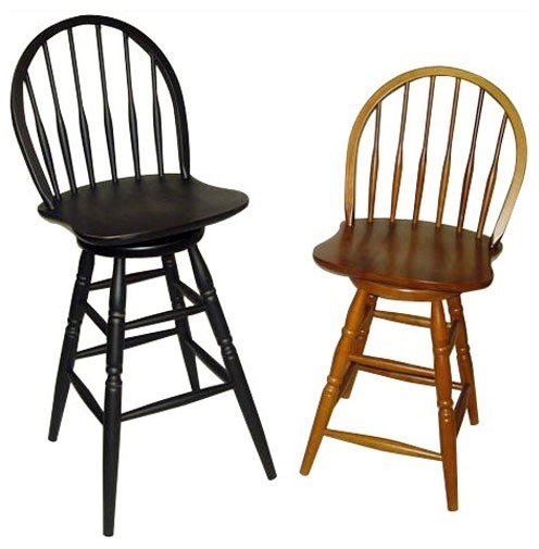 Swivel Windsor Stools Traditional Bar Stools And