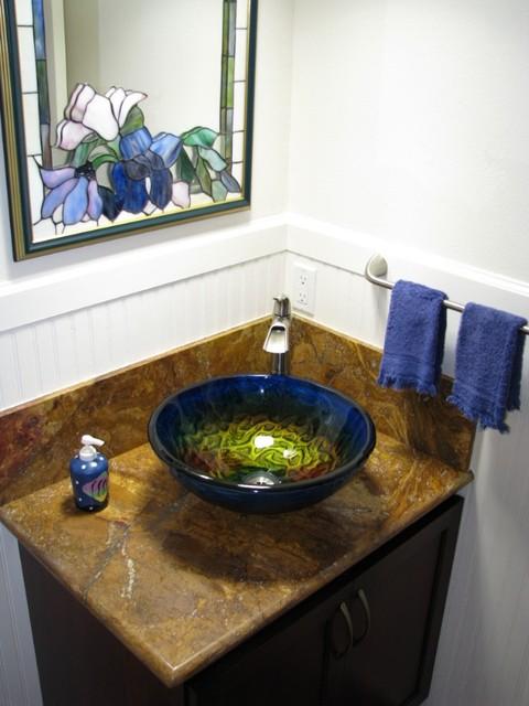 Eden Bath GS17 True Planet Glass Sink Bowl