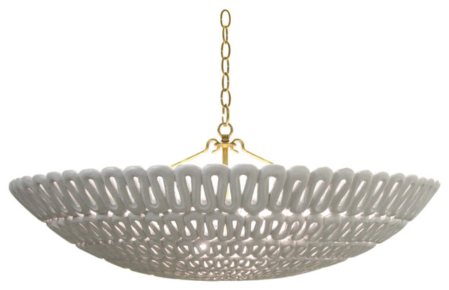 Oly Pipa Bowl Chandelier contemporary-chandeliers