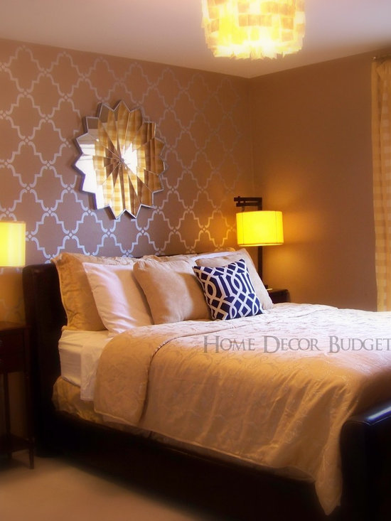 Wall stencils bedroom design ideas pictures remodel and for Bedroom stencils designs