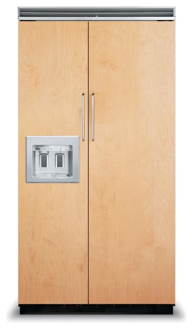 "Viking 42"" Built-in Side By Side Refrigerator, Custom Panel | FDSB5422D refrigerators"