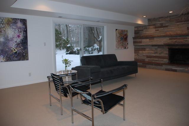 Split-Level Revived modern-family-room