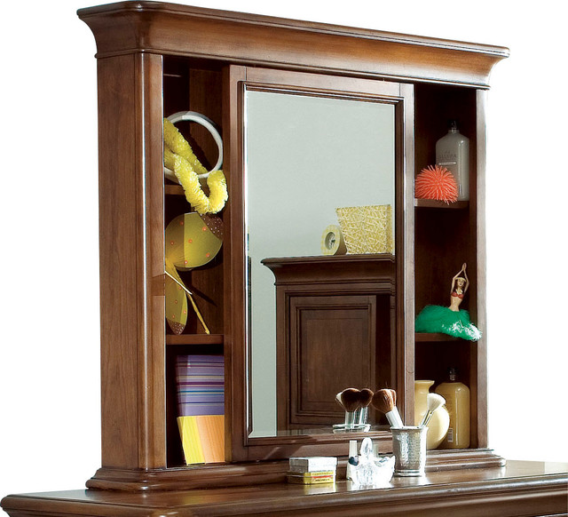 Lea Elite Classics Bureau Mirror in Brown Cherry traditional-kids-products