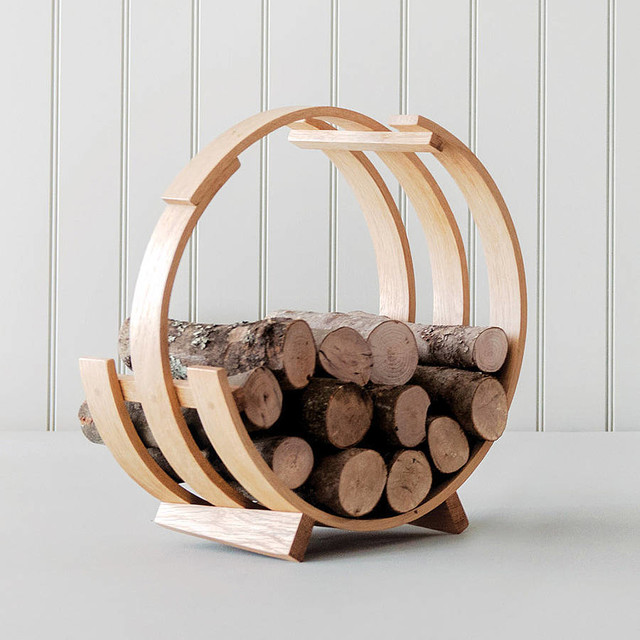 Log Loop Wood Basket By Tom Raffield Contemporary